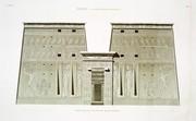 A Vol. I — Edfou (Apollinopolis Magna) — Pl. 51 - Élévation du pylône du grand temple.