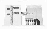 A Vol. I — Edfou (Apollinopolis Magna) — Pl. 52 - Coupe et élévation intérieure du pylône du grand temple