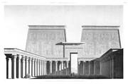 A Vol. I — Edfou (Apollinopolis Magna) — Pl. 61 - Vue perspective du pylône et de la cour du grand temple