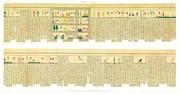 A Vol. II — Thèbes, Hypogées — Pl. 73 - Manuscrit sur papyrus en caractères hiéroglyphiques. Deuxième partie.