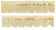 A Vol. II — Thèbes, Hypogées — Pl. 75 - Manuscrit sur papyrus en caractères hiéroglyphiques. Quatrième partie.