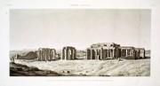 A Vol. II — Thèbes. Memnonium — Pl. 23 - Vue générale du tombeau d'Osymandyas et d'une partie de la plaine de Thèbes, prise du nord-ouest.