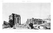 A Vol. II — Thèbes Memnonium — Pl. 26 - Vue du tombeau d'Osymandyas et d'une partie de la chaine libyque, prise du nord-est