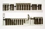 A Vol. II — Thèbes. Memnonium — Pl. 28 - Coupe longitudinale du tombeau d'Osymandyas.