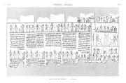 A Vol. II — Thèbes Hypogées — Pl. 62 - Manuscrit sur papyrus 2ème partie