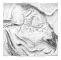 A Vol. II — Thèbes Byban El Molouk — Pl. 77 - Plan topographique de l'extrémité de la vallée des tombeaux des rois