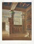 A Vol. II — Thèbes. Memnonium. — Pl. 37 - Vue perspective intérieure coloriée du temple de l'ouest