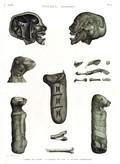 A Vol. II — Thèbes. Hypogées — Pl. 51 - 1.2. Momie de femme 3...8. Momies de chat et autres mamifères