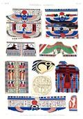 A Vol. II — Thèbes. Hypogées — Pl. 58 - Peintures dessinées d'après des enveloppes de momies