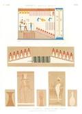 A Vol. II — Thèbes. Bybân el Molouk — Pl. 83 - 1. Tableau peint à l'entrée du 5ème tombeau des rois à l'ouest 2...7. Autres peintures des tombeaux