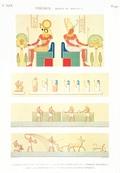 A Vol. II — Thèbes. Bybân el Molouk — Pl. 90 - 1. Tableau peint sur le fond de la salle des harpes dans le 5ème tombeau des rois à l'est 2.3.4. Peintures de l'une des salles du même tombeau