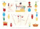 A Vol. II — Thèbes. Bybân el Molouk — Pl. 92 - Vases, meubles et sujets divers peints dans les tombeaux des rois
