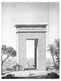 A Vol. IV — Denderah (Tentyris) — Pl. 6 - Élévation perspective de la porte du nord