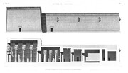 A Vol. IV — Denderah (Tentyris) — Pl. 10 - Élévation latérale et coupe longitudinale du grand temple