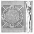 A Vol. IV — Denderah (Tentyris) — Pl. 21 - Zodiaque sculpté au plafond de l'une des salles supérieures du grand temple