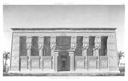 A Vol. IV — Denderah (Tentyris) — Pl. 29 - Vue perspective de la façade du portique du grand temple
