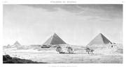 A Vol. V — Pyramides de Memphis — Pl. 7 - Vue générale des pyramides, prise du sud-est