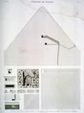 A Vol. V — Pyramides de Memphis — Pl. 14 - 1...4 Plans, coupe et entrée de la grande pyramide. 5...10. Plan, élévation, coupe et détails d'un tombeau principal et de son sarcophage.