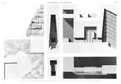 A Vol. V — Pyramides de Memphis — Pl. 15 - 1.2. Plan et élévation de l'angle nord-est de la grande pyramide 2...8 Plan et coupes de l'entrée. Et détails du sarcophage de la salle supérieure