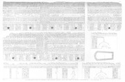 A Vol. V — Alexandrie — Pl. 40 - 1...7. Plan et détails des sculptures d'un sarcophage en brèche égyptienne, trouvé dans l'édifice appelé mosquée de St Athanase 2.3.4. Faces extérieures 5.6.7. Faces intérieures