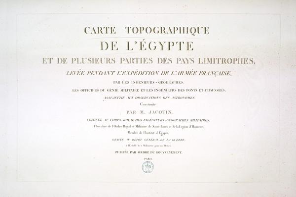 Carte topographique de l'Égypte