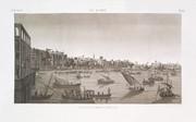 EM Vol. I — Le Kaire — Pl. 41 - Vue de la place Ezbekyeh ; côté du sud.