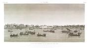 EM Vol. I — Le Kaire — Pl. 42 - Vue de la place Ezbekyeh ; côté du nord-ouest.
