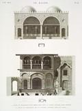 EM Vol. I — Le Kaire — Pl. 48 - 1.2. Plan et élévation d'un abreuvoir près la porte appelée Qarâ Meydân. 3.4. Plan et élévation de la citerne appelée Sibil Ali Agha.