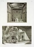 EM Vol. I — Le Kaire — Pl. 51 - 1. Vue d'une salle de la maison de Solymân Aghâ. 2. Vue intérieure du palais de Qasim Bey.