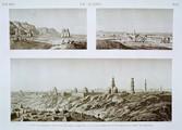 EM Vol. I — Le Kaire — Pl. 63 - 1.2. Vues des tombeaux situés près de Gebel Moqattam. 3. Vue des tombeaux situés près de la porte de Qarâfeh