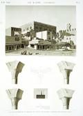 EM Vol. I — Le Kaire Citadelle — Pl. 71 - 1...6. Vue extérieure et détails du divan de Joseph. 7.8. Détails de construction.