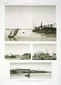 EM Vol. I — Basse Égypte — Pl. 76 - 1.2.3. Vues de trois villages situés sur la branche de Damiette. 4. Vue de la pêche sur le lac Menzaleh.