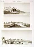 EM Vol. I — Basse Égypte — Pl. 78 - 1.2. Vues de Beny-Salâmeh et d'un puits sur la branche de Rosette. 3. Vue d'Omm-Dynâr prise du côté de l'est.