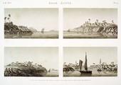 EM Vol. I — Basse Égypte — Pl. 79 - 1...4. Vues du foueh et de trois autres villages sur la branche de Rosette.