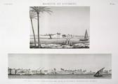 EM Vol. I — Rosette et environs — Pl. 80 - 1.2. Vue de la colline appelée Tell Abou Menna et de Kafr el Geneyneh dans le delta.