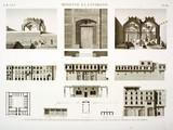 EM Vol. I — Rosette et environs — Pl. 82 - 1...10. Plans, élévations et détails de plusieurs maisons de Rosette. 11.12. Vue de plusieurs tombeaux des environs.