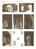 EM Vol. II — Alexandrie — Pl. 90 - Plans et vues intérieures de plusieurs tours de l'enceinte des arabes.