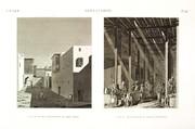 EM Vol. II — Alexandrie — Pl. 96 - 1. Vue d'une rue conduisant au port vieux 2. Vue du grand bazar ou marché principal