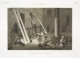 EM Vol. II — Arts et métiers — Pl. XIII - Vue intérieure de l'attélier du tisserand