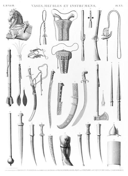em Vol. II — Vases, meubles et instrumens — Pl. NN
