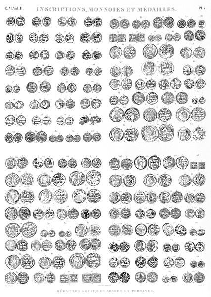em Vol. II — Inscriptions, monnoies et médailles — Pl. i